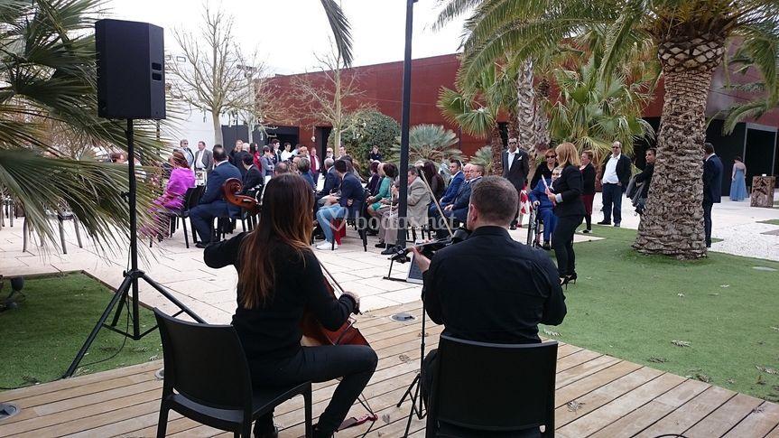 Sonorización de ceremonia con músicos
