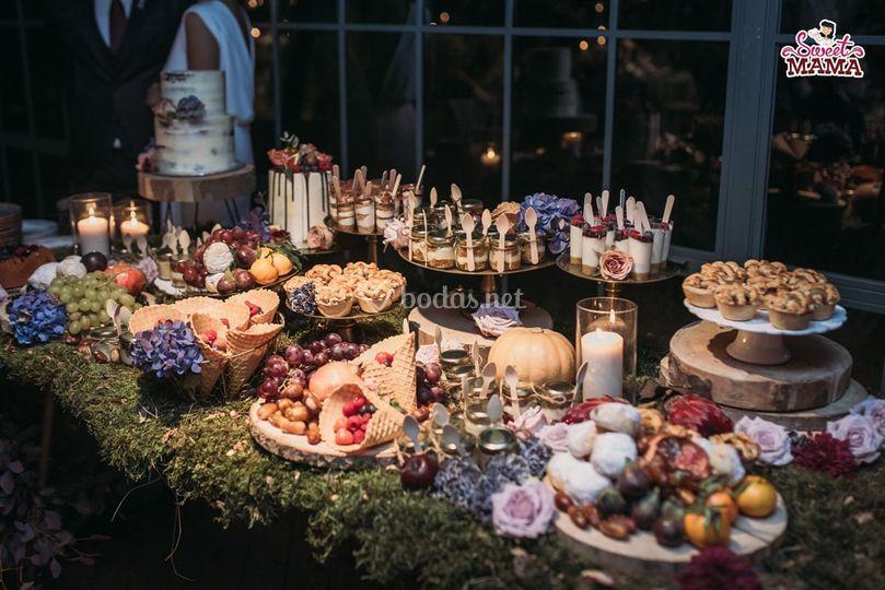 Mesa dulce masia ribas otoño