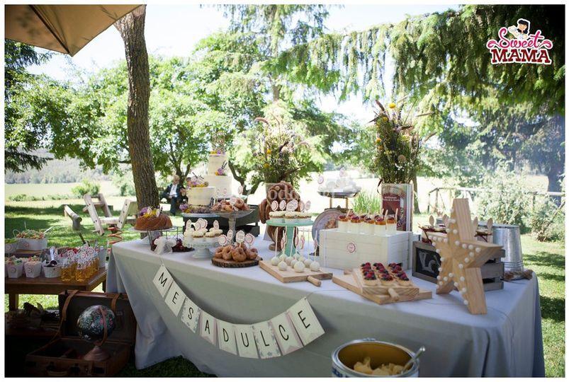 Mesa dulce para boda en solson