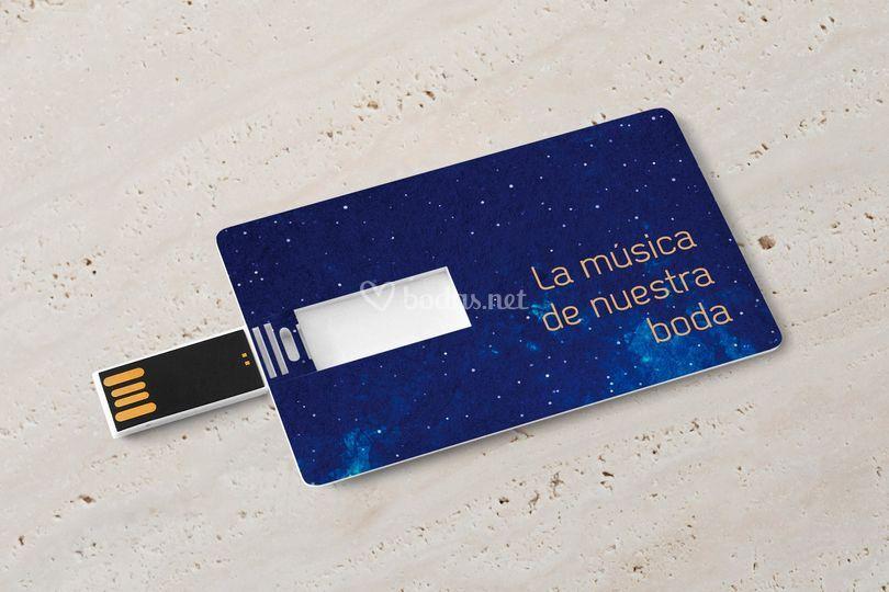 Tarjeta USB con música de boda