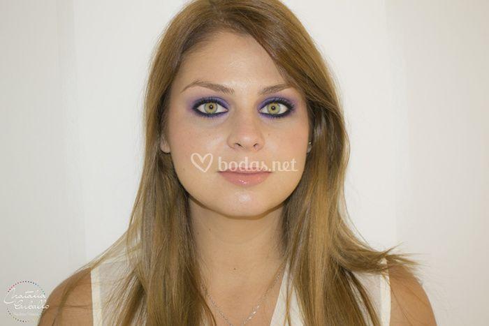 Smokey eyes violeta