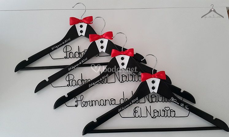 Perchas personalizadas boda