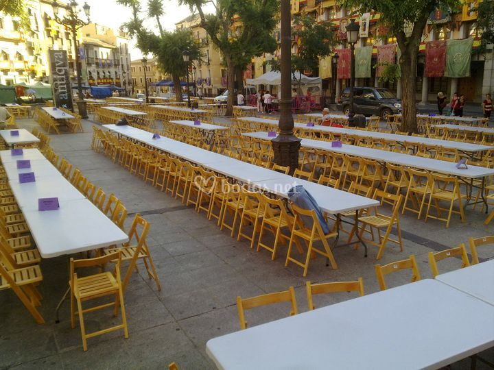 Mobiliario para grandes evento