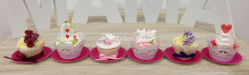 Cupcakes de boda personalizados