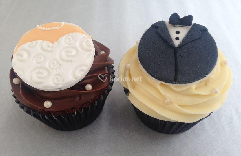 Cupcakes Novia & Novio