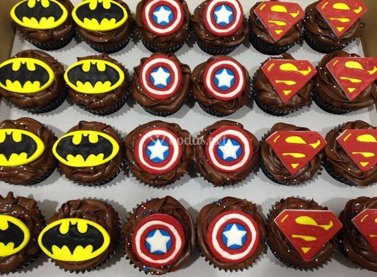 Cupcakes boda temática