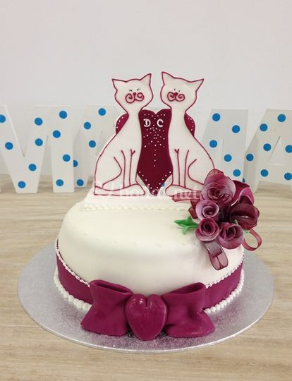 Pastel de boda wedding cats