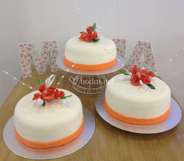 Pastel boda buqué flores