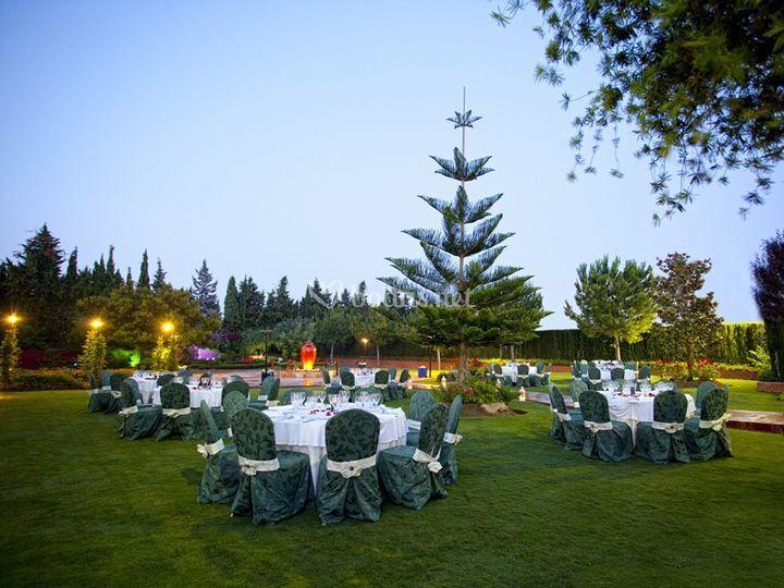 Boda en los Jardines de Hotel Cortijo Chico