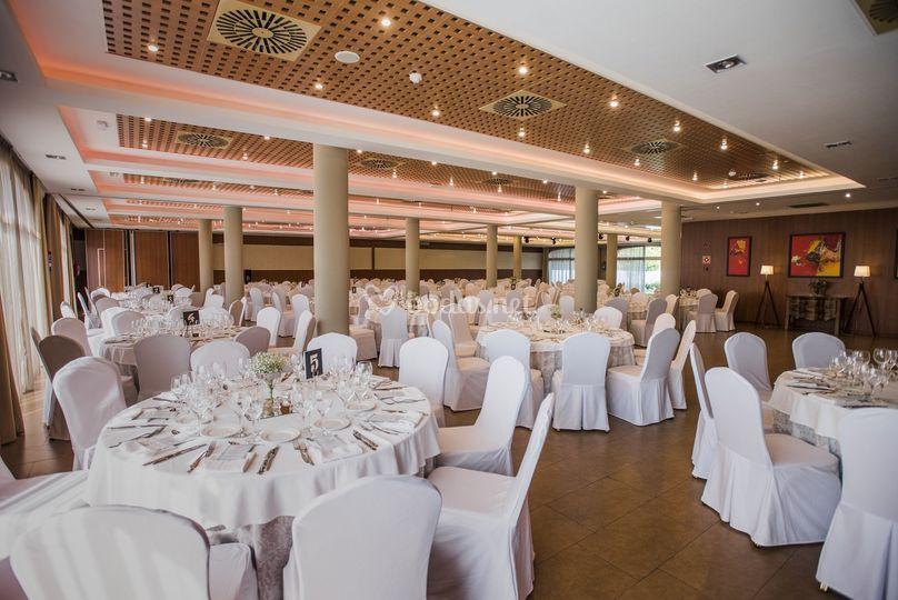 Salón con iluminación especial