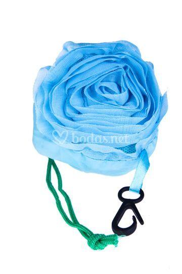 Bolsa plegable azul