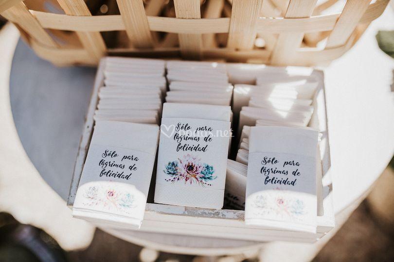 Pañuelos mensaje personalizado