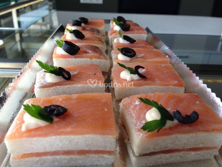 Bocadito de salmón