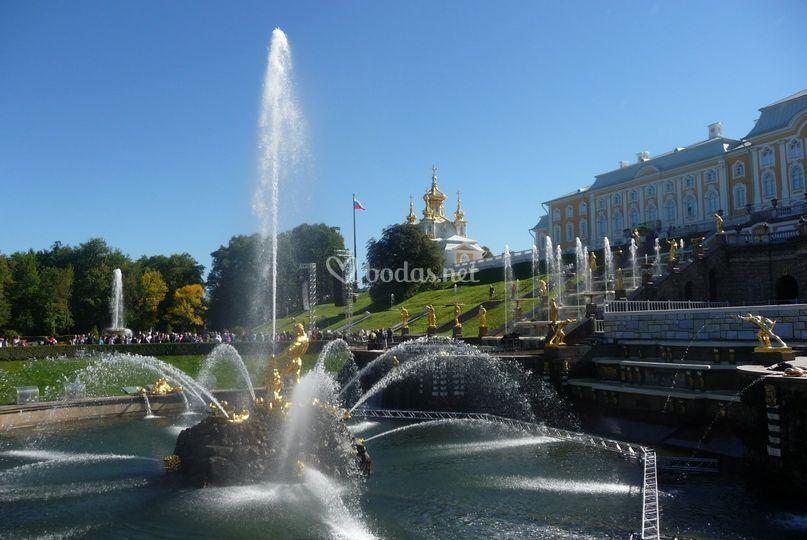 Jardines de Peterhof, Rusia