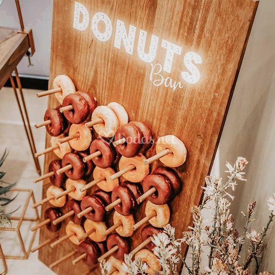 Pared de donuts con led