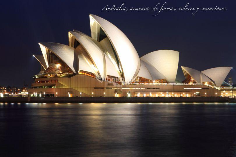 Australia, armonia de lineas