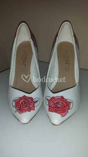 Zapato con rosas