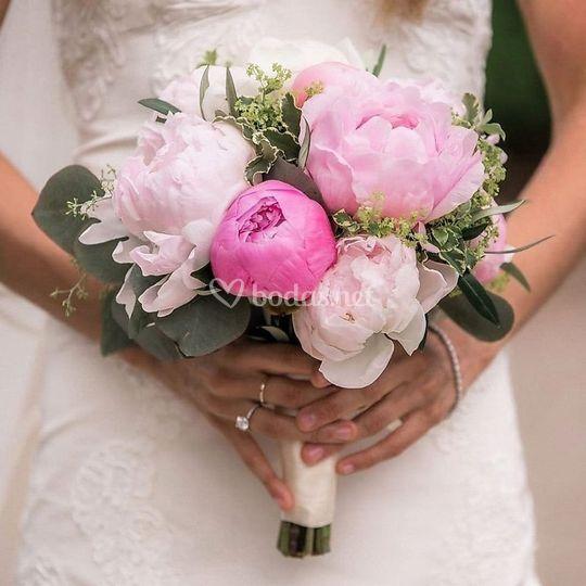 Ramo en tonos rosas