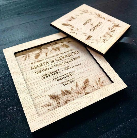 Invitación de dos piezas
