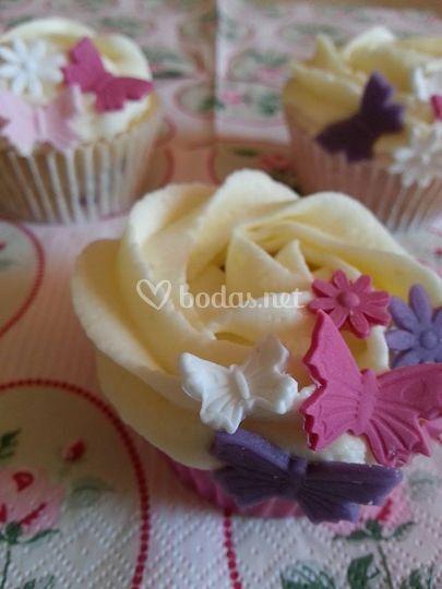 Cupcakes mariposas
