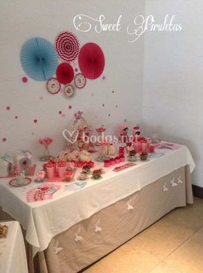 Sweet piruletas eventos for Mesa de chuches comunion nina