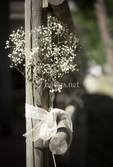 Detalle estilo bodas rurales