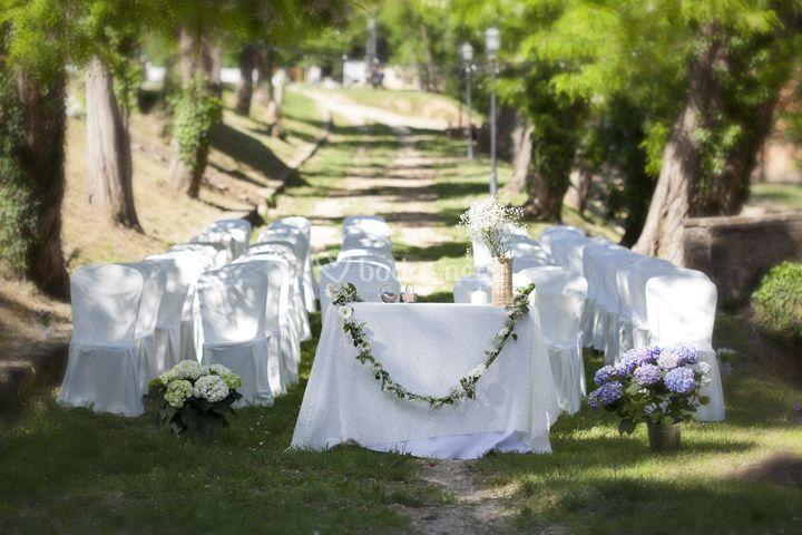 Ceremonia en el pasaje