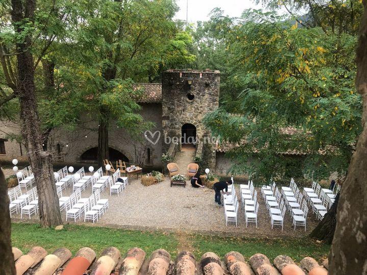 Ceremonia en el torreón