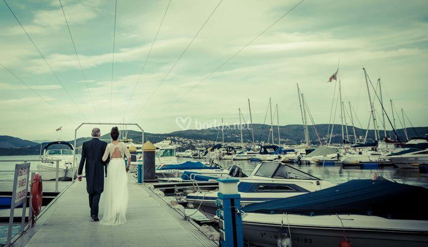 Fotografía Boda en un barco