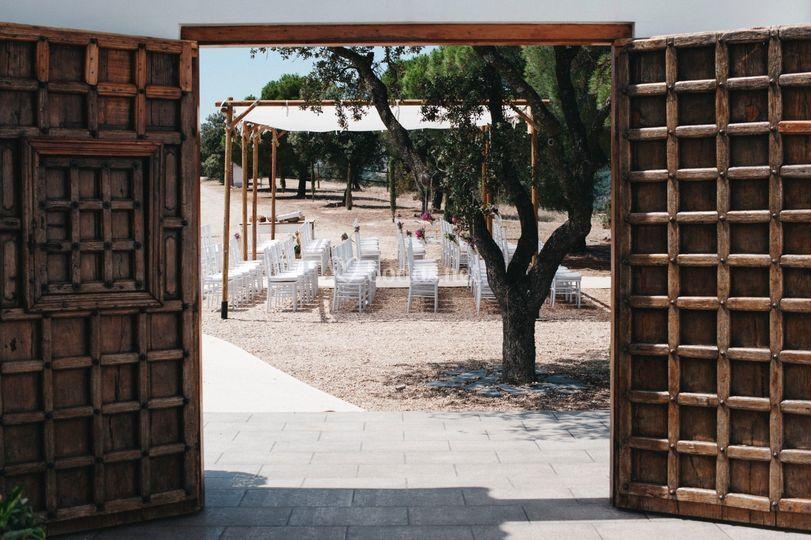 Espacio de la ceremonia civil