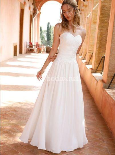 Vestido de novia con guipur