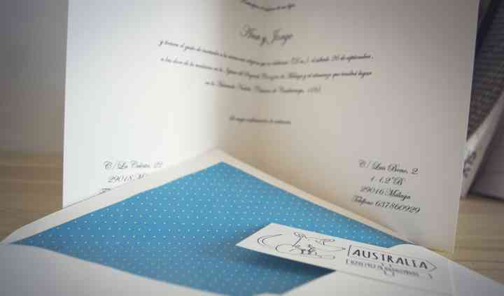 Invitación boda y sobre