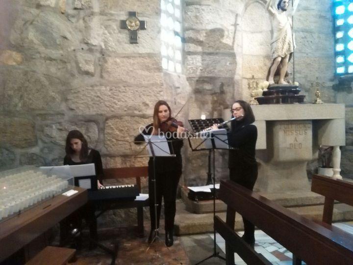Trio piano, flauta y violín.