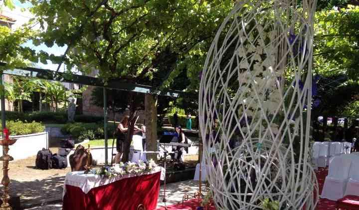Ceremonia religiosa aire libre