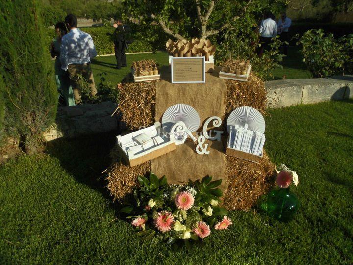 Corner decoración ceremonia