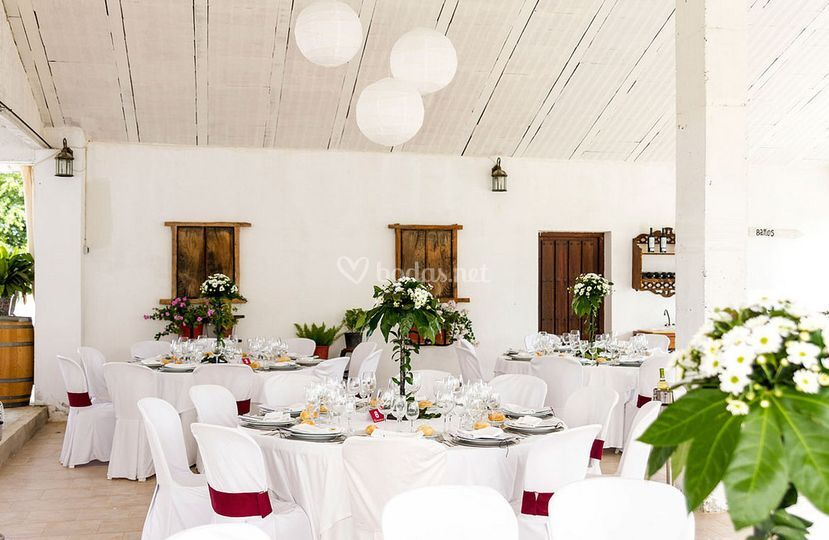 Disposición mesas del banquete
