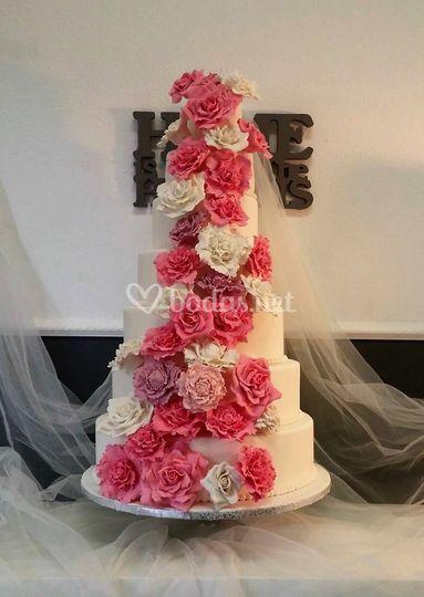 Tarta boda 7 pisos