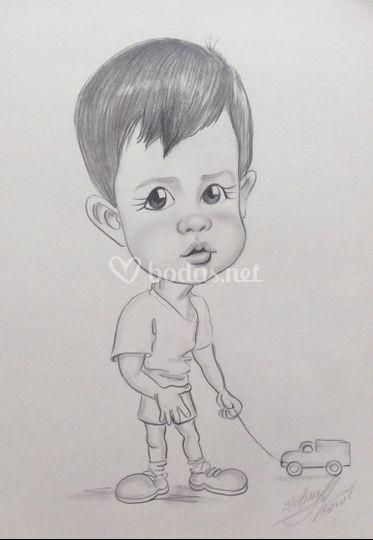 Caricatura niño individual