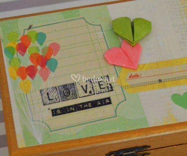 Caja de arras love is in the air