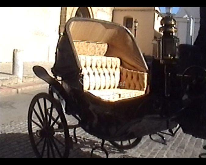La tapicería del carruaje