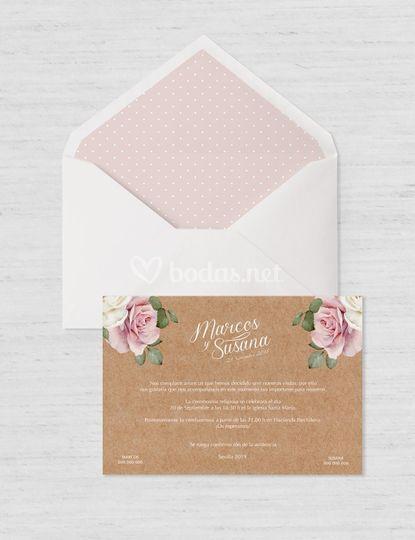 Invitación Romantic