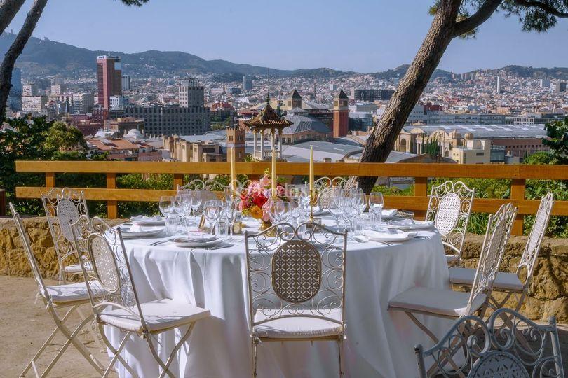 Banquete en la balconada
