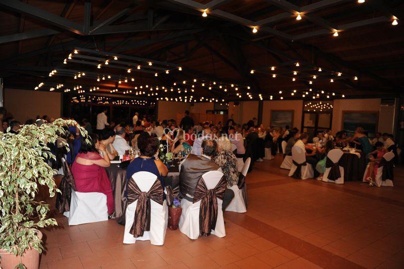 Salón para el banquete