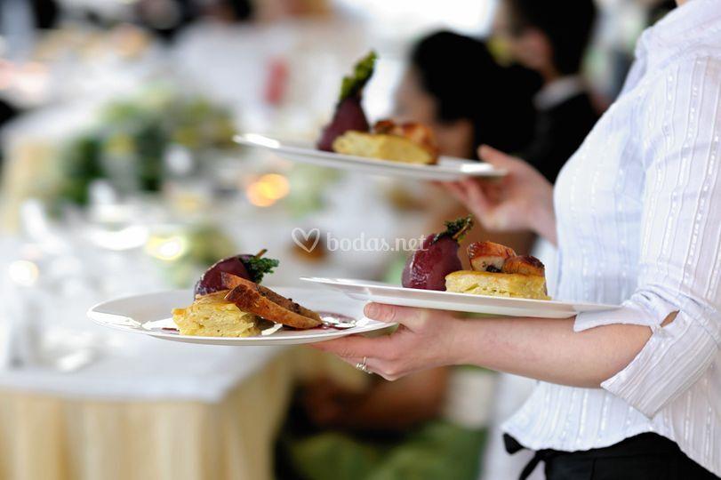 Platos para el banquete