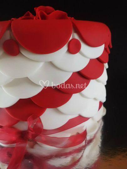 En rojo y blanco