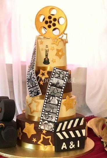 "Tarta boda temática ""Film"""