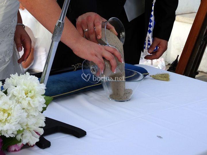 Ceremonia de la arena