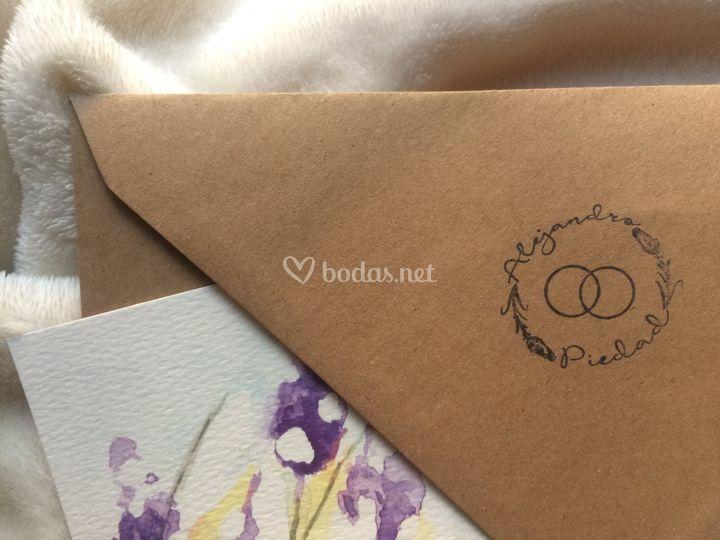 Invitación y sello