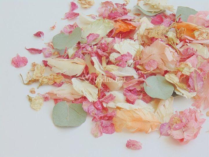 Confeti de flores