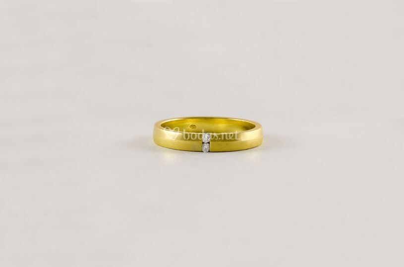 Alianza boda diamantes